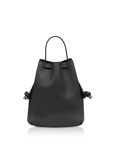 Black Nappa Briony Mini Backpack - Meli Melo