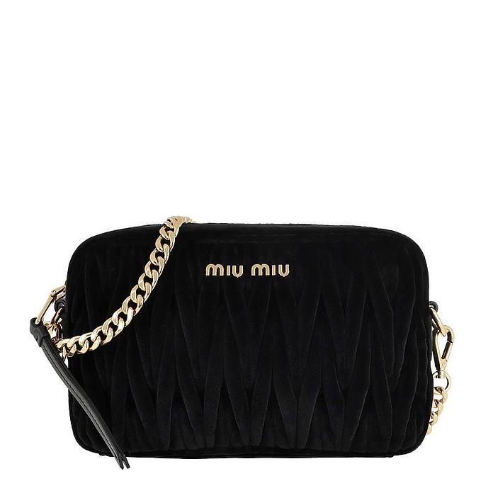 Matelassé Shoulder Bag Velvet Black - Miu Miu