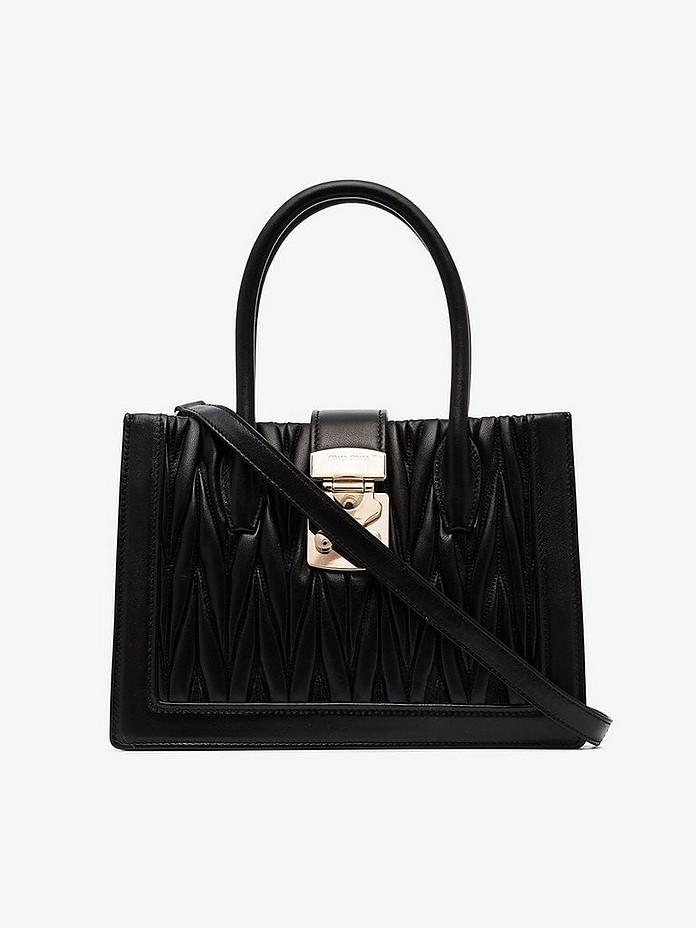 Black Confidential Matelassé tote bag - Miu Miu