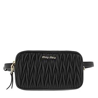 Matelassé Belt Bag Leather Black - Miu Miu 8102fe88876e8