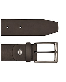 Men's Dark Brown Nubuk Belt - Manieri
