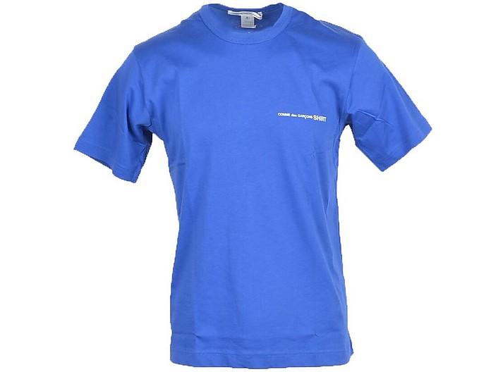 Men's Blue T-Shirt - Comme des Garçons / コム デ ギャルソン