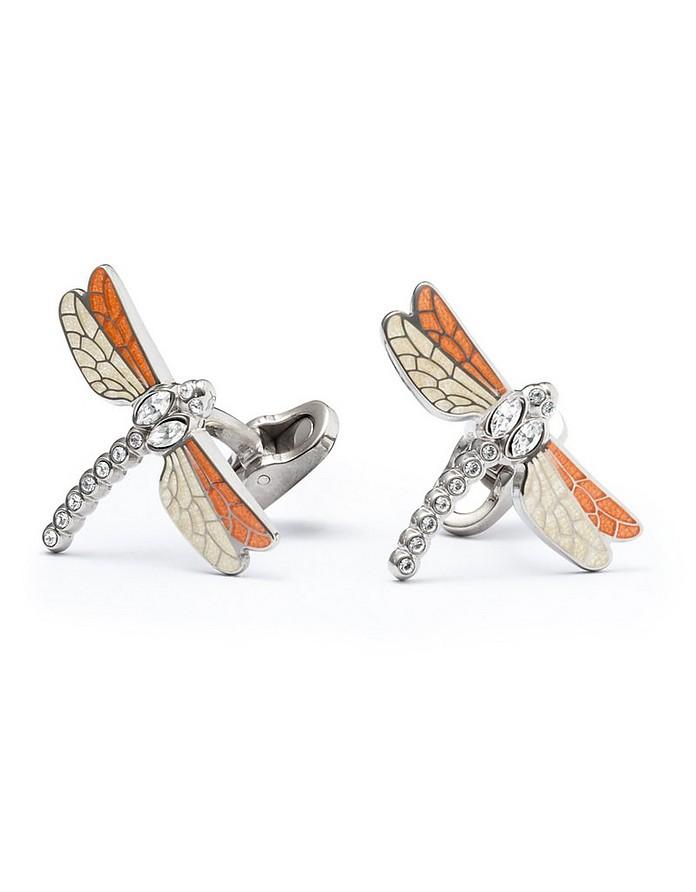 Enamel and Brass Men's Dragonfly Cufflinks - Mon Art