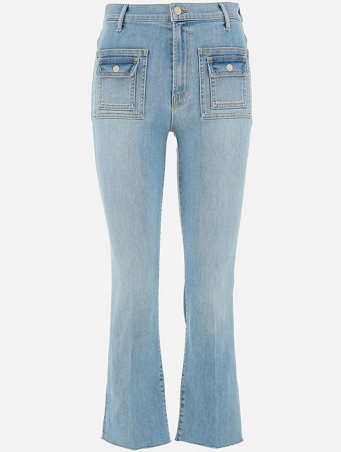 Light Blue Stretch Cotton Women's Jeans - MOTHER