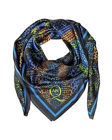 Kaleidoscope Croco Print Twil Silk Wrap