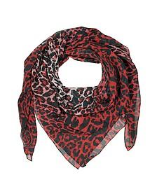 Animal Print Silk Wrap