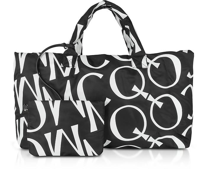Inside Out Black & White Signature Tote Bag - McQ Alexander McQueen