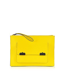 Saffiano Leather Pocket Case Clutch