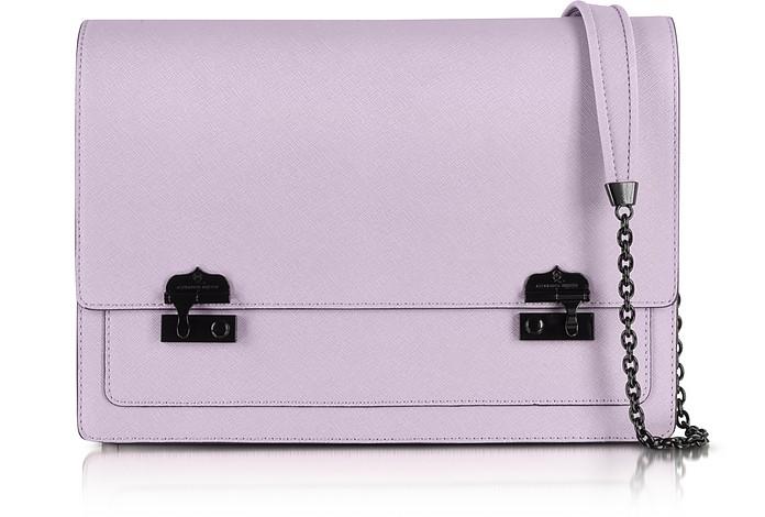 Saffiano Leather Satchel - McQ Alexander McQueen