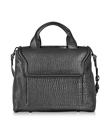 Black Bubble Leather Medium Tote