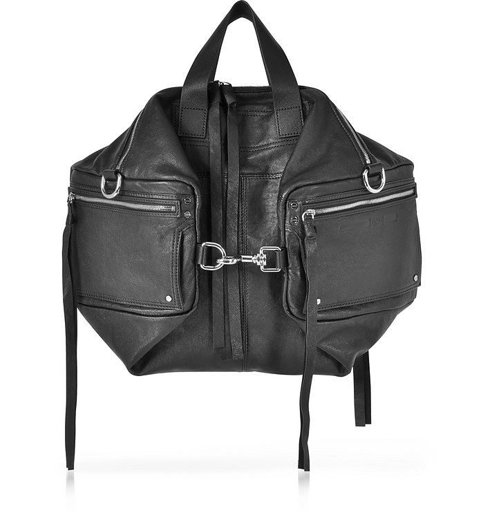 Loveless Black Leather Convertible Holdall - McQ Alexander McQueen