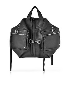 Loveless Black Leather Convertible Holdall - McQ Alexander McQueen