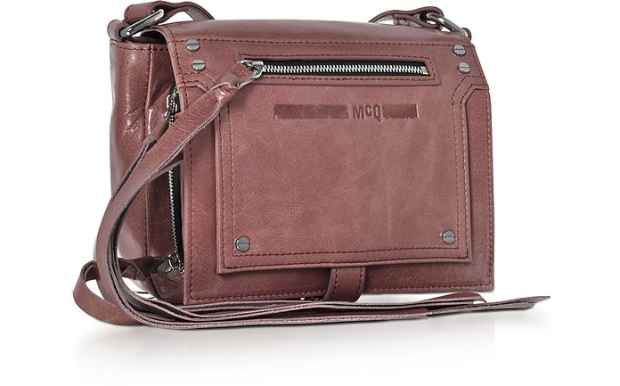 e8b993f5111fe Twitter · Pinterest · Share on Tumblr. Dirty Pink Waxed Leather Mini  Crossbody Bag - McQ Alexander McQueen