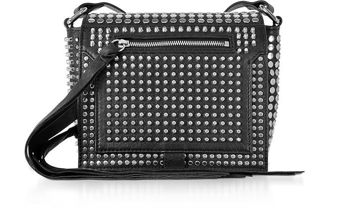 7b2663041bf7d Black Studded Leather Leather Mini Crossbody Bag - McQ Alexander McQueen