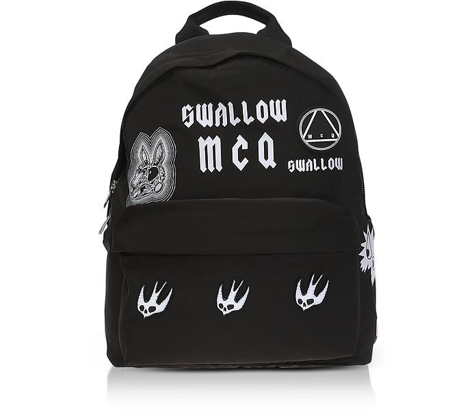 Sponsorship Black Nylon Women'S Backpack W/ Badges