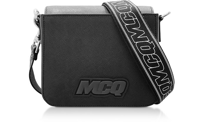 Black Saffiano Leather Hyper Shoulder Bag - McQ Alexander McQueen
