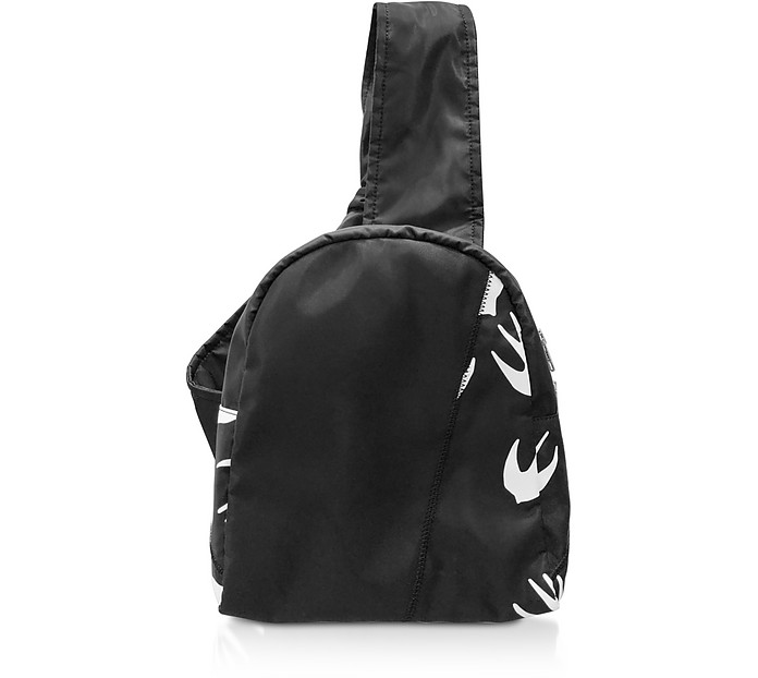 Black & White Printed Nylon Backpack - Alexander McQueen