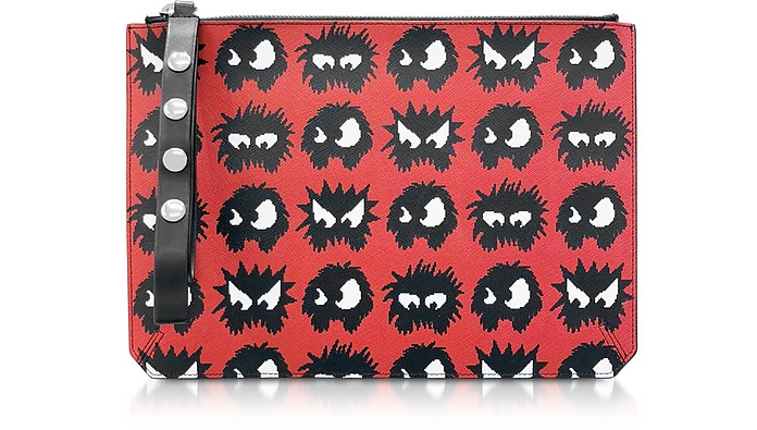 Knit Monster Pochette pour Tablette Rouge - McQ Alexander McQueen