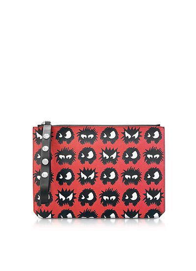 Classic Red Knit Monster Tablet Pouch - McQ Alexander McQueen