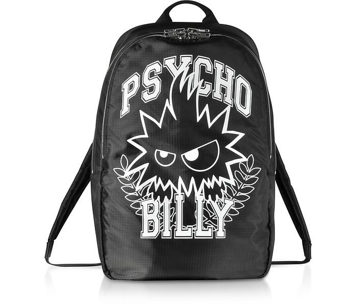 Psycho Billy Black Nylon Backpack - McQ Alexander McQueen