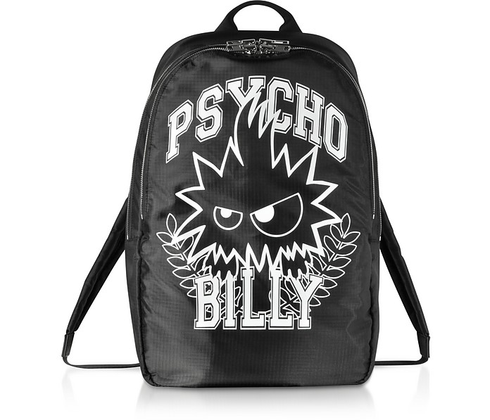 Psycho Billy Black Nylon Backpack - McQ by Alexander McQueen