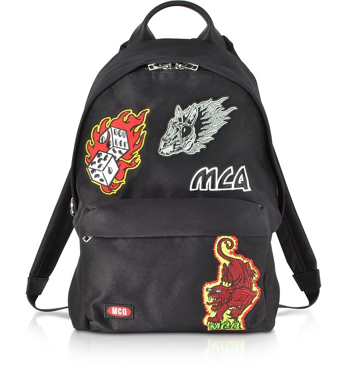 Black Signature Backpack w/Patches - Alexander McQueen