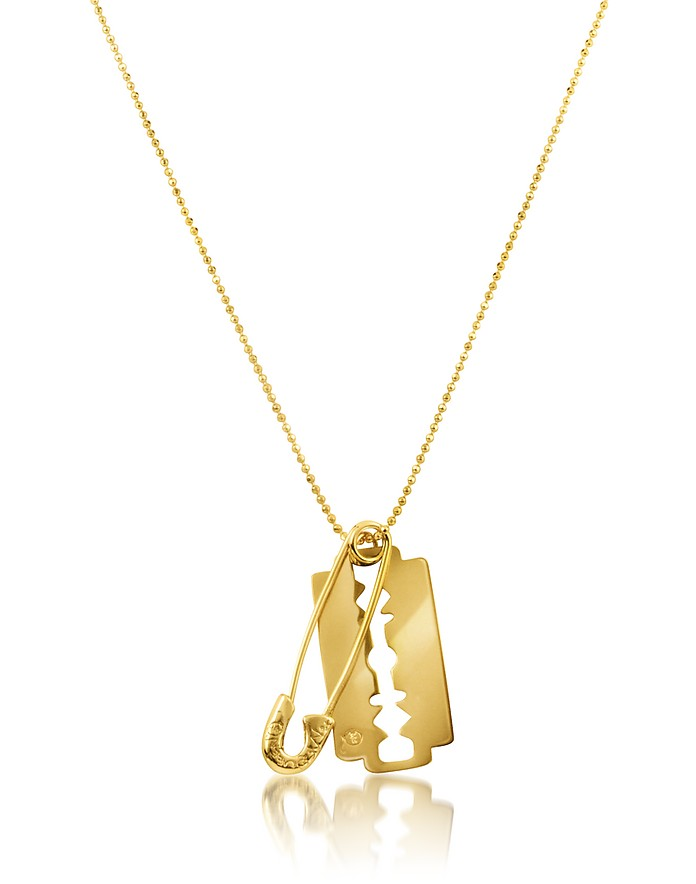 McQ - Razor & Safety Pin Necklace - McQ Alexander McQueen