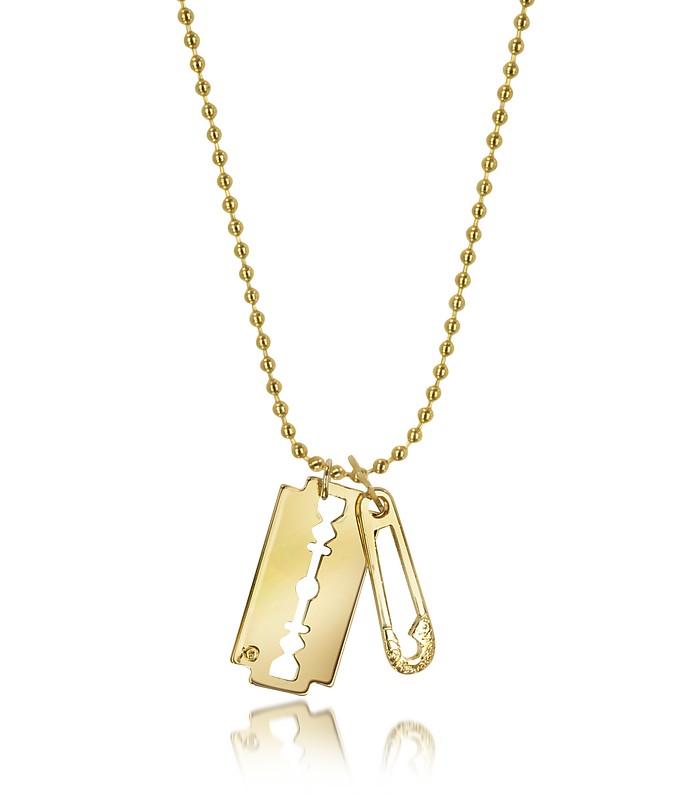 Razor & Safety Pin Pendant Necklace - McQ Alexander McQueen