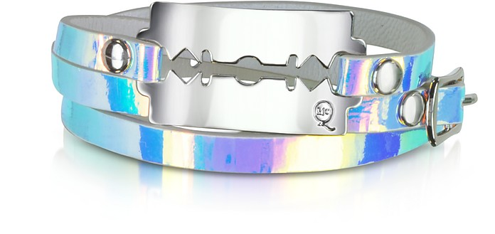 Razor Hologram Triple Wrap Leather Bracelet - McQ Alexander McQueen