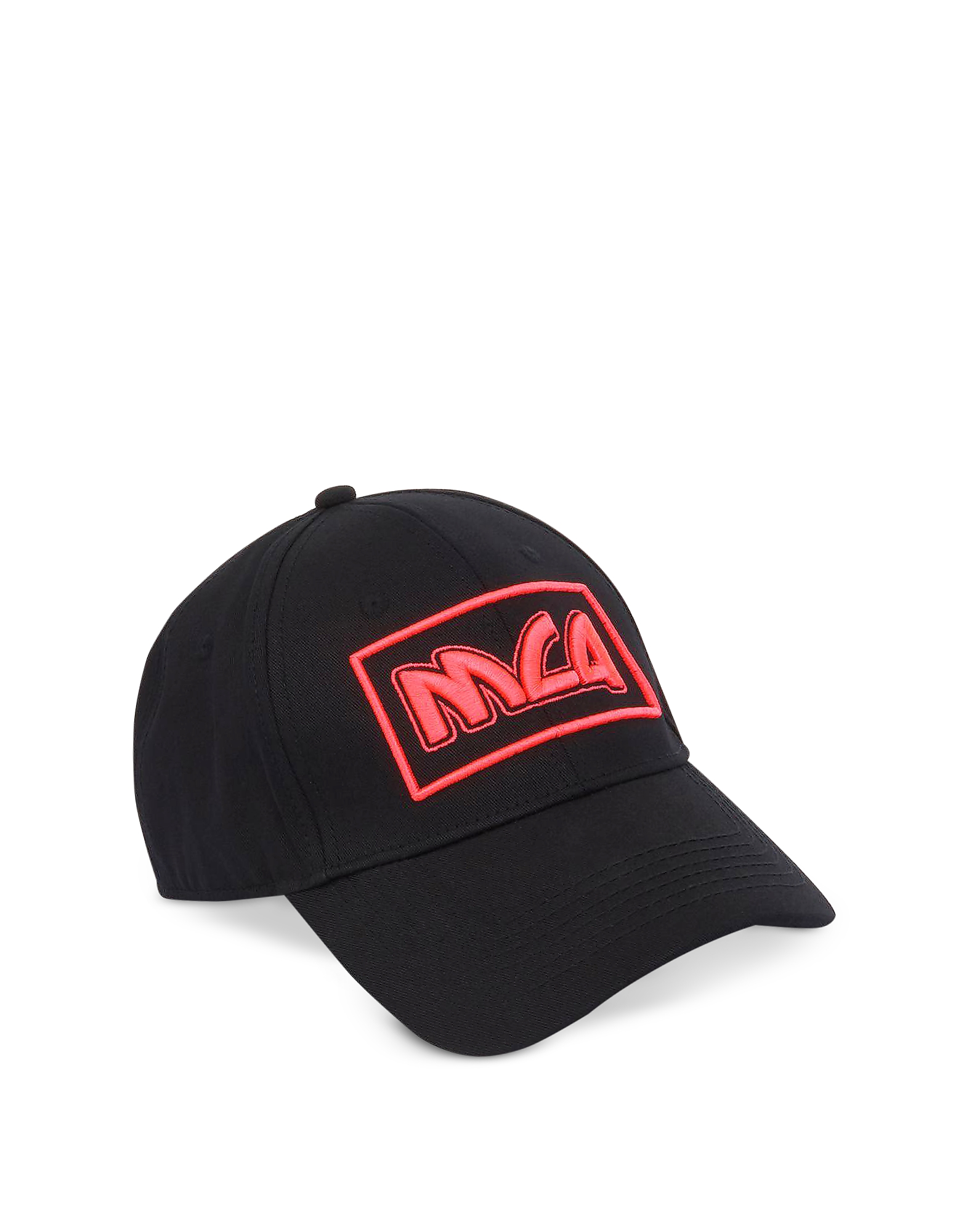 Mcq By Alexander Mcqueen Mcq Alexander Mcqueen Metal Logo Cotton Baseball  Cap In Black   Pink 5cd975868a6c