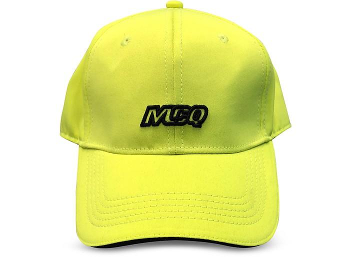 Neon Yellow Jersey Men's Basaball Cap - McQ Alexander McQueen