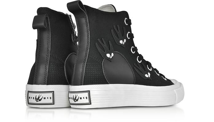 High Top Sneakers in Canvas Nero con Patches McQ Alexander McQueen 35 (35 EU) 6q70mcC9