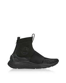 Hikaru Black Neoprene and Pony-Hair High Top Sneakers - McQ Alexander McQueen