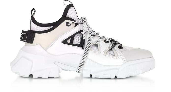 Orbyt Mid Black, White & Off White Women's Sneakers - Alexander McQueen 亚历山大麦昆
