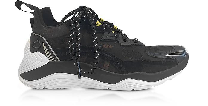 Gishiki 3.0 Sneakers da Donna in Pelle Stretch Nera - McQ Alexander McQueen