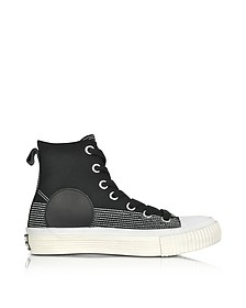 Black Canvas Plimsoll High Sneakers - McQ Alexander McQueen