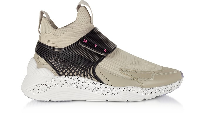 Hikaru 3.0 Almond & Black Nylon Women's Sneakers - McQ by Alexander McQueen