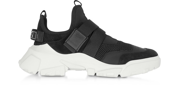 Orbyt Clip Black Leather and Fabric Women's Sneakers - McQ by Alexander McQueen / マックキュー バイ アレキサンダーマックイーン