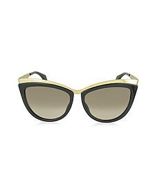 AMQ 4251/S Metal Brow Cat Eye Women's Sunglasses