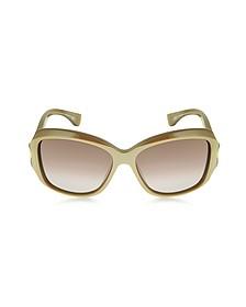 AMQ4215/S Square Framed Soft Curve Sunglasses
