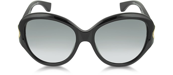 AMQ4217/S Round Framed Soft Curve Sunglasses - Alexander McQueen