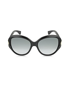 AMQ4217/S Round Framed Soft Curve Sunglasses