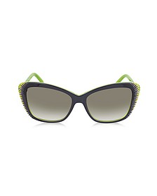 AMQ4178/S Color Block Acetate Sunglasses