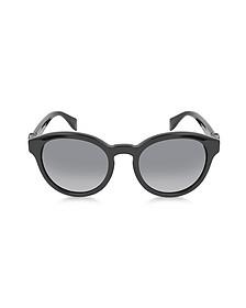AMQ4196/S Black Round Frame Sunglasses