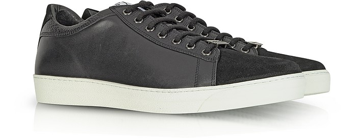 cb3a3a6f9268 McQ Alexander McQueen Black Leather and Suede Sneaker 40 (7 US