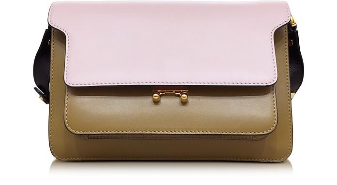 Colorblock Leather Medium Trunk Bag - Marni