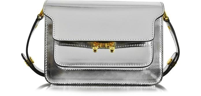 Silver Laminated Leather Mini Trunk Bag - Marni