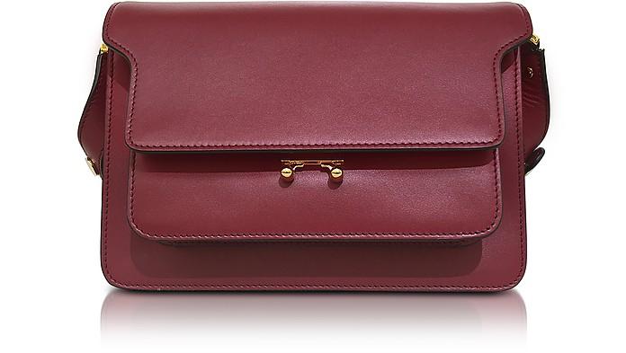 ec77cec2b57b Marni Black Cherry Leather Medium Trunk Bag at FORZIERI Canada