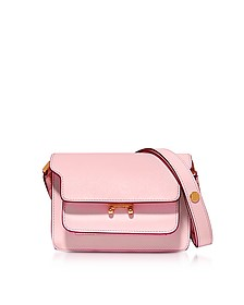 Cinder Rose Saffiano Leather Mini Trunk Bag - Marni