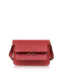 Hot Red Saffiano Leather Mini Trunk Bag - Marni
